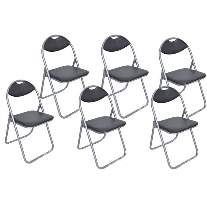 Lot de 6 chaises noires maison design for Lot 6 chaises noires