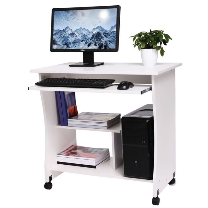 bureau 80cm bois table ordinateur pr clavier tablette. Black Bedroom Furniture Sets. Home Design Ideas