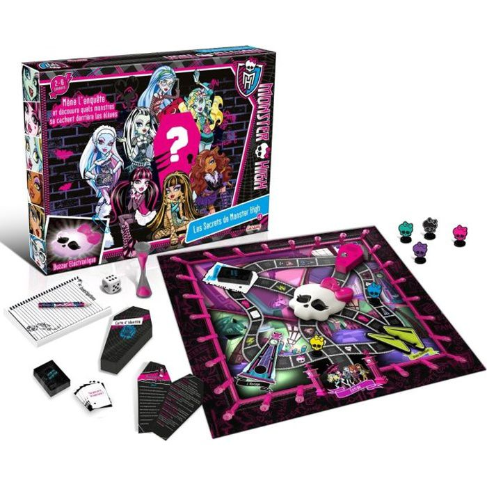 monster high les secrets de monster high achat vente jeu soci t plateau cdiscount. Black Bedroom Furniture Sets. Home Design Ideas