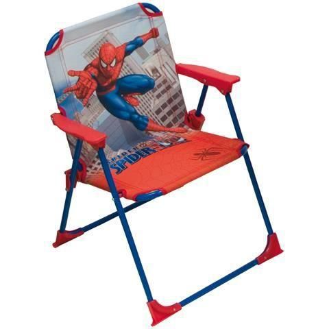 chaise pliante enfant plage jardin spiderman h ro marvel gar ons rouge bleu achat vente. Black Bedroom Furniture Sets. Home Design Ideas