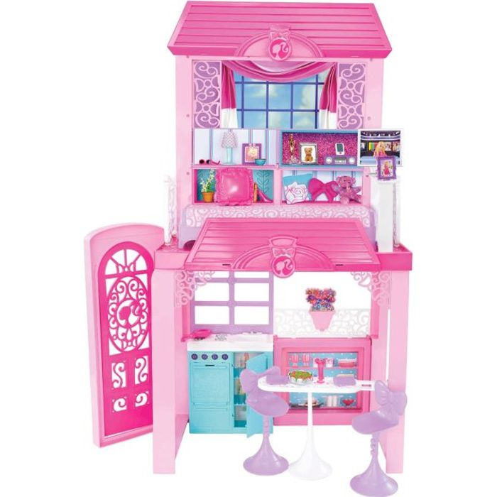 barbie maison de vacances achat vente poup e cdiscount. Black Bedroom Furniture Sets. Home Design Ideas