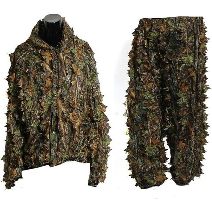 feuille ghillie suit camouflage chasse v tements prix. Black Bedroom Furniture Sets. Home Design Ideas