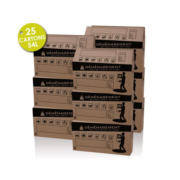kit 100 carton achat vente kit demenagement cdiscount. Black Bedroom Furniture Sets. Home Design Ideas