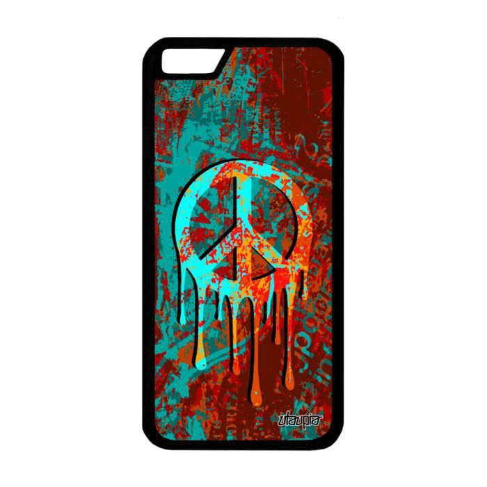 coque apple iphone 6 6s silicone peace and love st