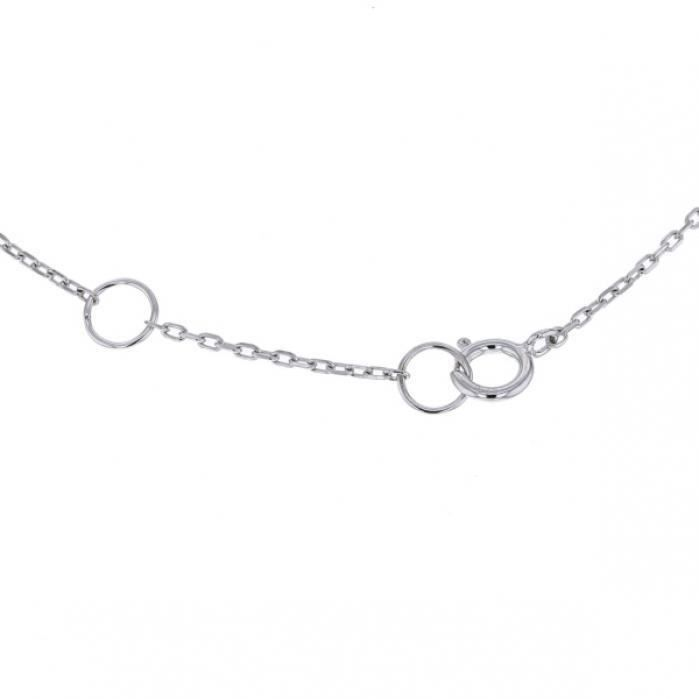 Collier multi-pierres forme goutte diamantsen Or blanc