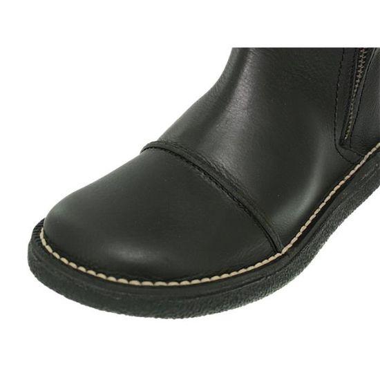 Noir cuir Achat Olinda Bottes noir Vente Kickers Noir XiTZkuOP