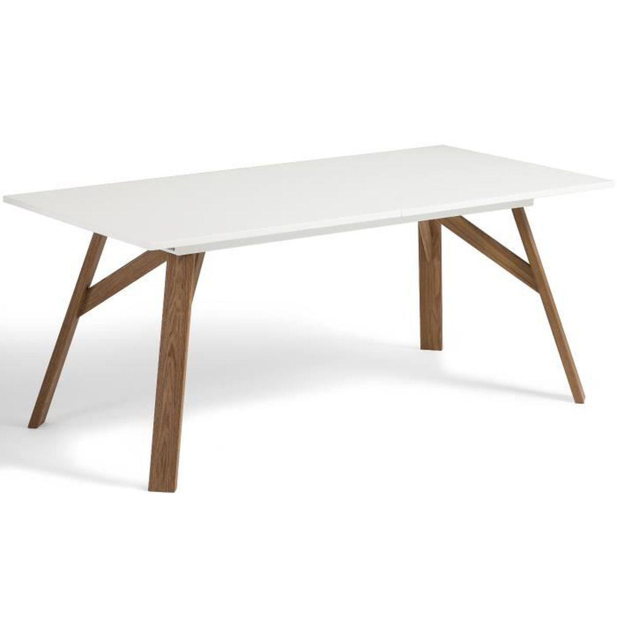 No l table extensible design table et chaises for Table ronde extensible style scandinave