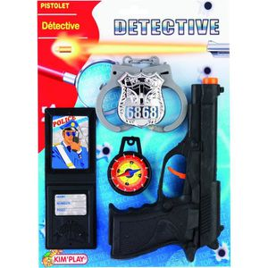 KIMPLAY Equipement police - Badge, menottes, pistolet, boussole