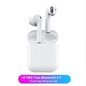 CASQUE - ÉCOUTEURS Paire i12 TWS Mini Écouteurs Bluetooth 5.0 Casque