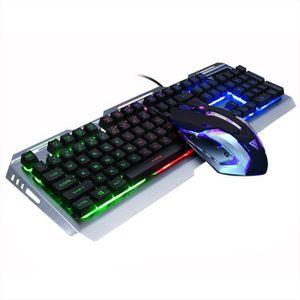CLAVIER D'ORDINATEUR Gaming Keyboard Clavier et souris mécanique V1 104