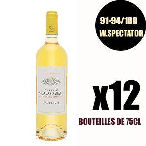 VIN BLANC X12 Château Sigalas Rabaud 2017 75 cl Sauternes 1e