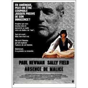 AFFICHE - POSTER Absence de Malice - 1981 - Sydney Pollack, Paul Ne