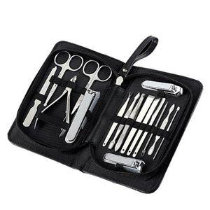 COUPE-ONGLES Kit Manucure Pédicure, 16 En 1 Outil De Coupe-ongl
