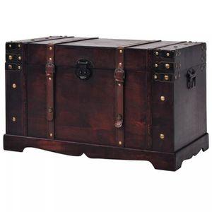 COFFRE - MALLE Magnifique  Coffre vintage de rangement Bois 66 x