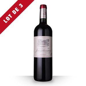 VIN ROUGE 3X Château Jeandeman 2014 Rouge 75cl AOC Fronsac -