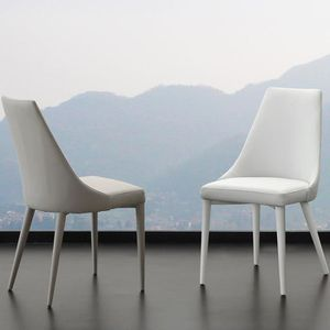 CHAISE Chaise blanche design MARYSE (lot de 2)  Beige