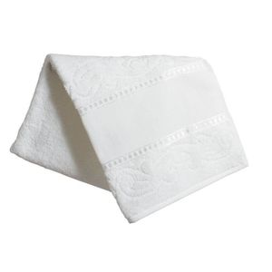 SERVIETTES DE BAIN Serviette de toilette blanche 50x100 ? broder sur