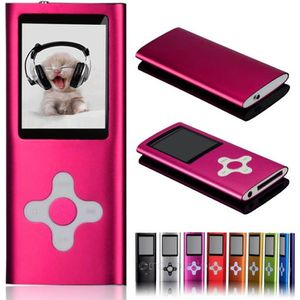 LECTEUR MP4 16GB Ultra Slim Lecteur MP3 MP4 avec radio FM Ecra