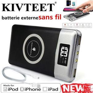 BATTERIE EXTERNE KIVTEET®Nouveau 20000 mAh polymère mobile ultra-mi