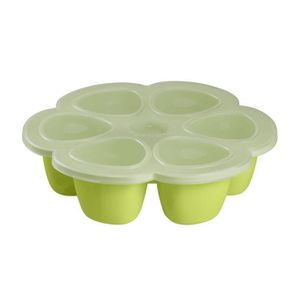 CONSERVATION REPAS Béaba Multiportions silicone 6x150 ml neon