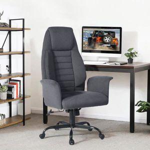 CHAISE DE BUREAU  Homy Casa Chaise de Bureau Tissu avec Fonction d'