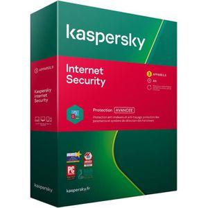 ANTIVIRUS KASPERSKY Internet Security 2020, 3 postes, 1 an