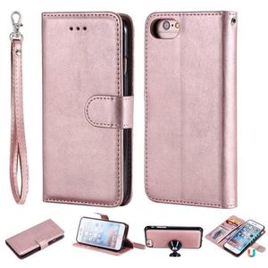 coque iphone 8 or rose cuir