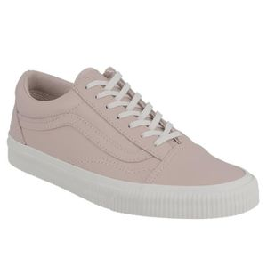 SKATESHOES Basket dame Vans Old Skool embossed en cuir rose.