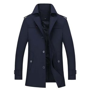Imperméable - Trench Trench Homme Regular Fit Casual Veste Couleur Unie