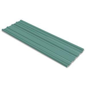 ACCESSOIRE TOITURE Tôle en acier galvanisé 12 pièces Vert