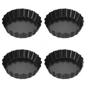 cannel/é Moule /à Tarte//quiche Pan avec base amovible Lluminum en alliage avec rev/êtement anti-adh/ésif /à tarte Assiette /à tarte Moule /à Cake 10 inch 10 Inch