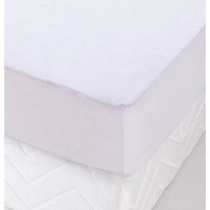 Coton Blanc 200/x 90/x 1/cm Briljant Home Prot/ège Matelas Molleton pour Boxspring
