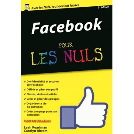 facebook pour les nuls achat vente livre carolyn abram leah pearlman first interactive. Black Bedroom Furniture Sets. Home Design Ideas