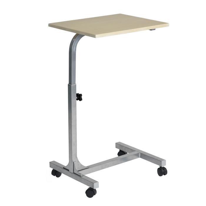 Aingoo Table de lit, table d'ordinateur - Ajustable en hauteur - Beige