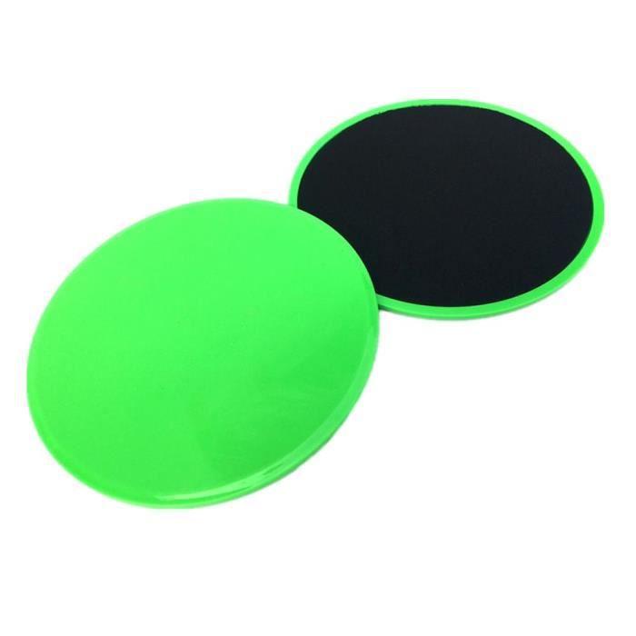 2Pcs Curseurs de base de disques de glisse de forme physique pour des entraînements de jambe d'ABS de gymnase à la maison ke9214