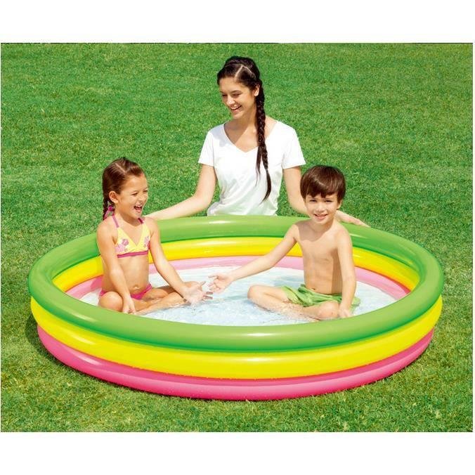 Piscine ronde gonflable enfant bébé Jouet à la maison baignoire gonflable bébé Piscine enfant petit 152*30cm pour 1 ou 2 enfants 90