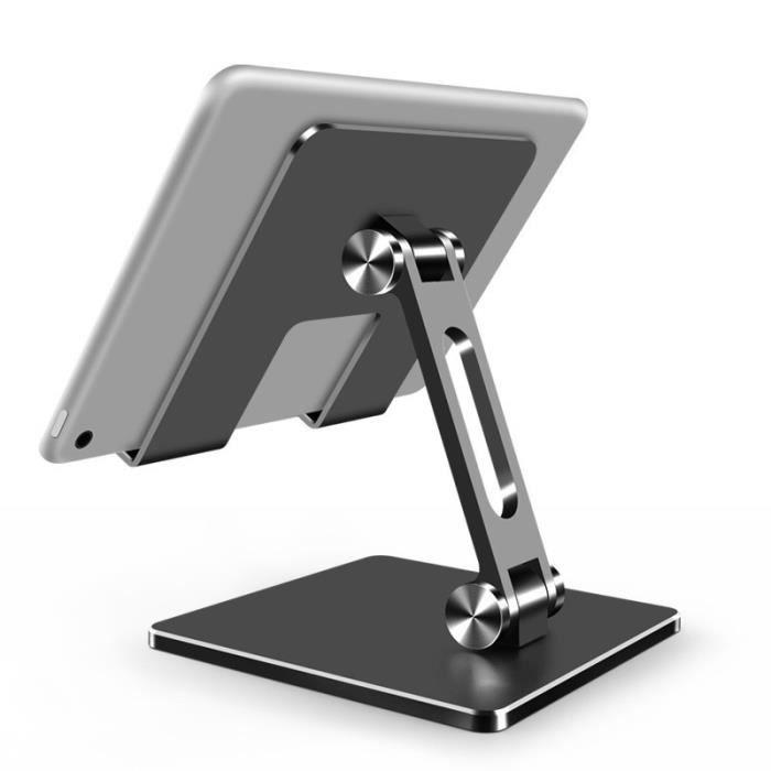 Support de tablette support de bureau réglable support pliable Dock berceau-gris