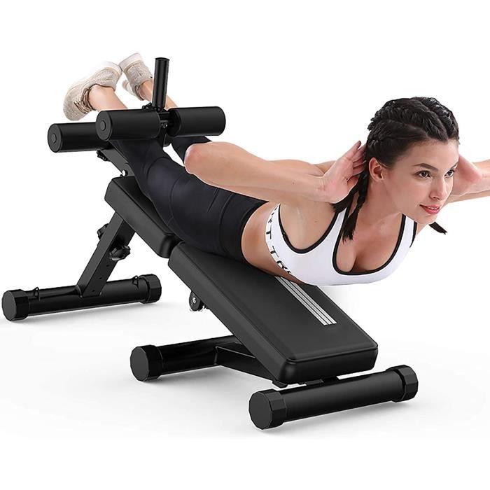 BANC DE MUSCULATION TAMIA Banc De Musculation Pliable Pliable Multifonctions Lit SitUps Extension Leg Curl pour Fitness Multifon195