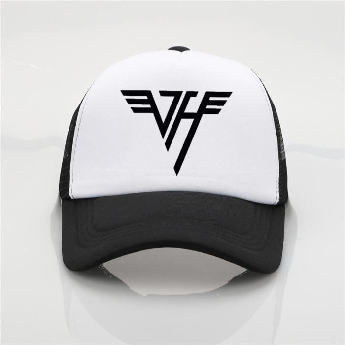 Van Halen casquette de baseball étudiant couples casquettes Van Halen LOGO maille casquette mode sol Gris foncé