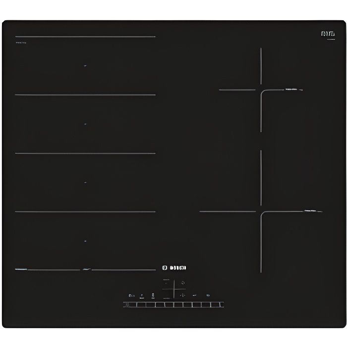 BOSCH PXE611FC1E Plaque à induction - 4 foyer(s) - Touches sensitives - Zone de cuisson modulable - Noir - 59.2 cm