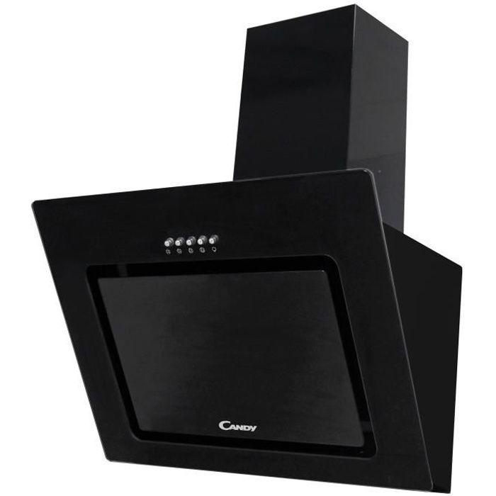 CANDY - CVMAD60/1N - Hotte Inclinée - 463,3m3/h max - 65dB max - 3 Vitesses - L60cm - Noir