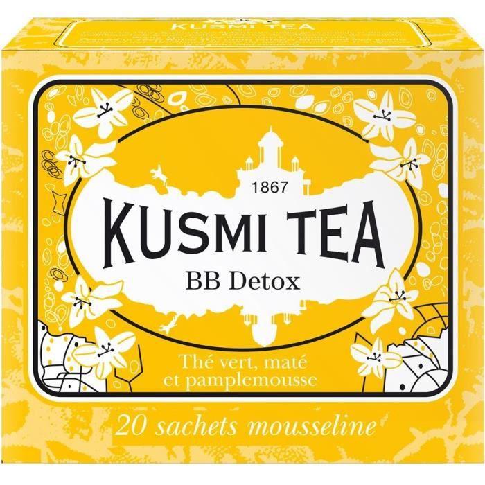 KUSMI TEA Thé BB Detox - Etui 20 sachets mousseline - 44 g
