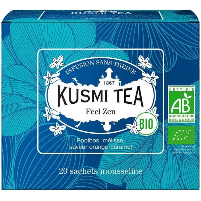 KUSMI TEA Infusion Feel Zen - Bio - Etui 20 sachets mousseline