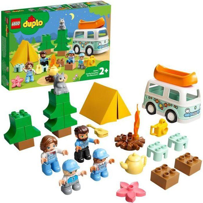 LEGO® 10946 DUPLO® Town Aventures en camping-car en famille Jouet Enfant 2+ ans, Set éducatif