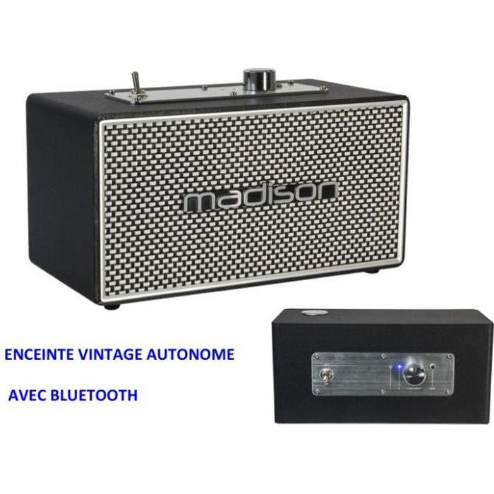 ENCEINTE ACTIVE RÉTRO VINTAGE AUTONOME BATTERIE BLUETOOTH 4.1 MP3 IDÉE CADEAU