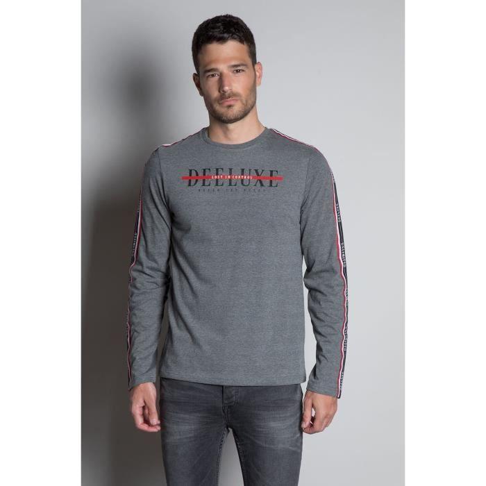 DEELUXE T-shirt à manches longues RALFY Medium Grey Mel