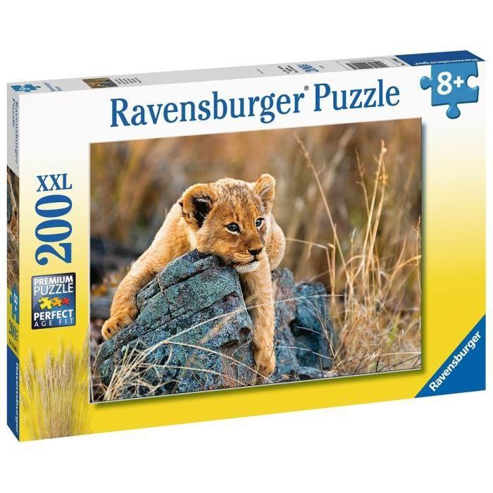 Puzzle 200 pièces XXL - Le petit lionceau - Ravensburger - Puzzle Enfant 200 pièces - Dès 8 ans