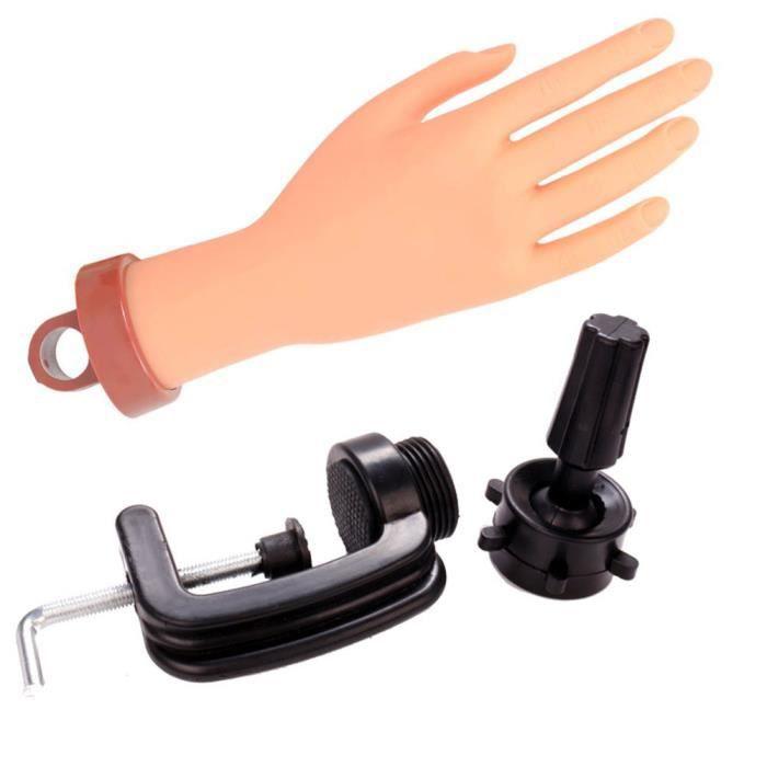 Pratique ongles pratique manucure main Faux ongles des mains avec support