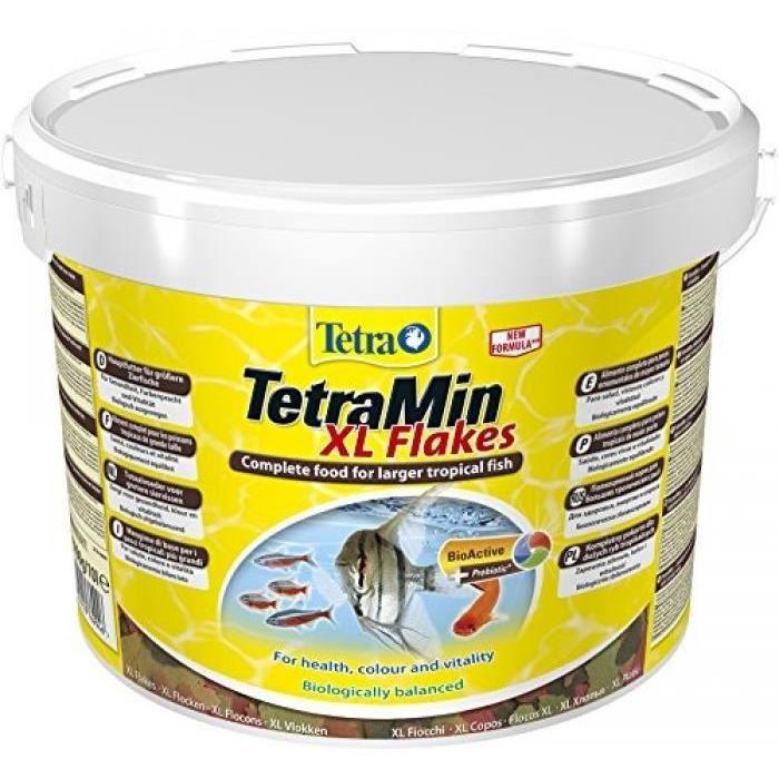 TETRA NOURRITURE TETRAMIN XL FLOCONS POUR AQUARIOPHILIE 10 L