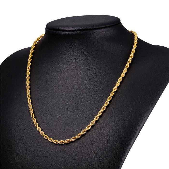 collier homme en or